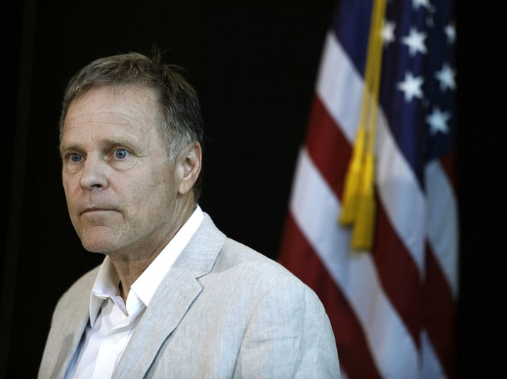 Fred Warmbier, father of Otto Warmbier, at a press conference.