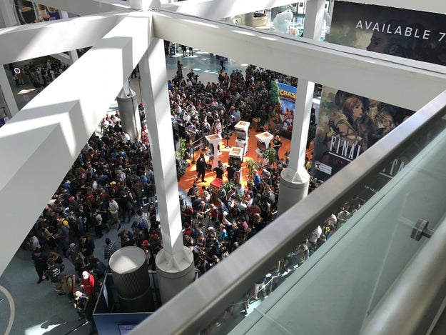 """Okay so by now you're probably thinking, """"did you even play any video games?"""" Well... Remember Crash Bandicoot from earlier? THIS WAS THE LINE TO PLAY THE DEMO!"""