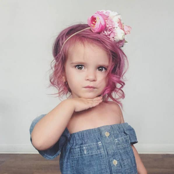 This Mom Dyed Her Toddlers Hair Hot Pink And Were So Here For It