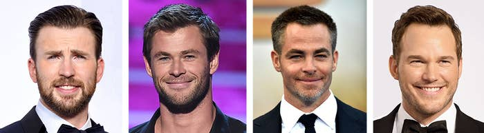 That's Chris Evans, Chris Hemsworth, Chris Pine, and Chris Pratt.