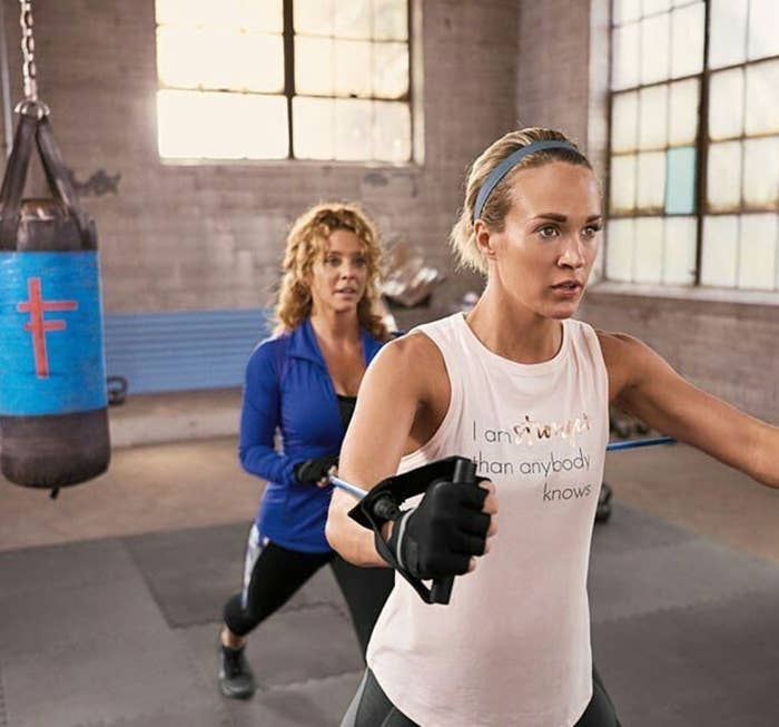 Since fitness is obviously a huge part of Carrie's life, I wanted to know how she juggles it all – and also get some fitness and nutrition tips from Eve.