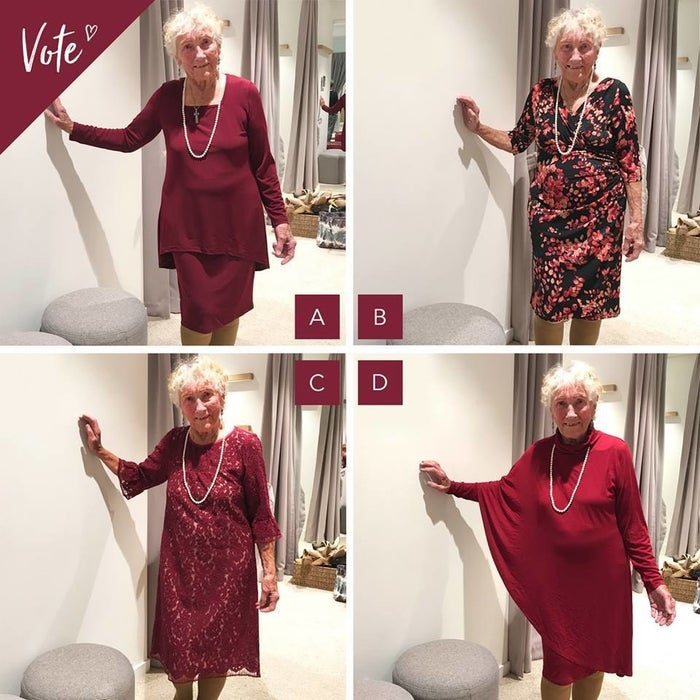 Martin went shopping for her wedding dress at Birdsnest, a store in in Australia, where she tried on four absolutely stunning looks. To help her pick one, the store posted the four outfits on its Facebook page and asked the public to weigh in.