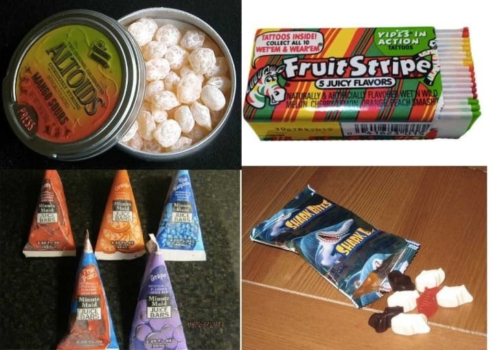 sugary childhood candies
