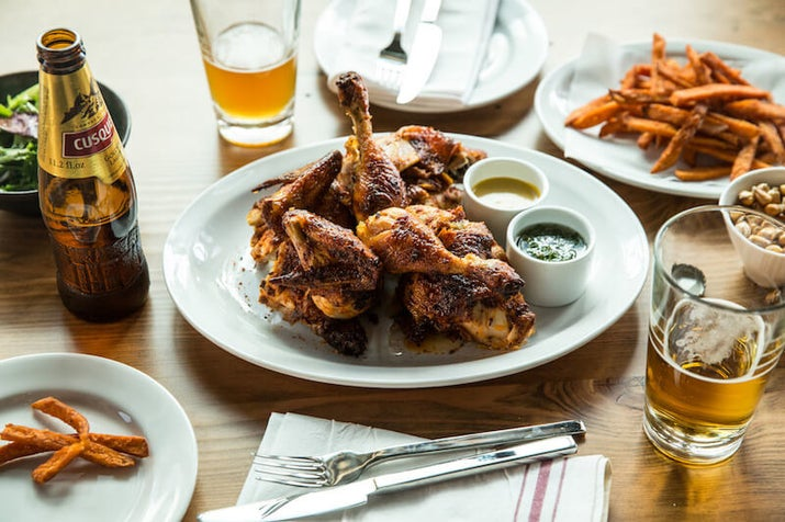 What is it? Roast chicken with a side of French fries. Served as a street food, in hole-in-the-wall spots, and more upscale eateries, this savory dish is one of the most common and loved meals in the country. Recipe here.
