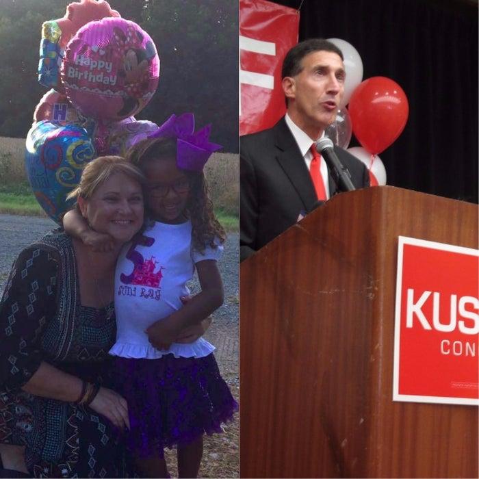 Wendi Wright and her daughter, Suni, and Rep. David Kustoff