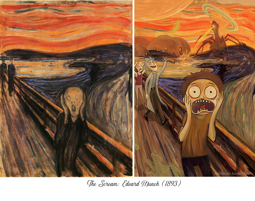 An Artist Reimagined Famous Paintings With Cartoon