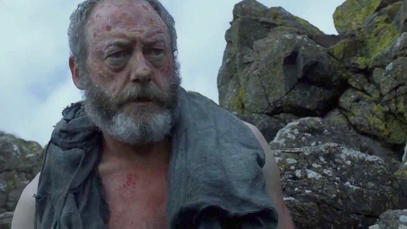 """I had heard you were dead,"" says Stannis upon being reunited with his Hand. While Davos's smuggler friend Salladhor Saan remarks, ""You've only just come back to life. Stay alive a little longer, my friend.""He may not have died. But he came rather close. And who says the birth from the prophecy isn't metaphorical? Perhaps this was the moment when everything changed for him, when he lost everything – including his son – and his destiny as Azor Ahai was set."