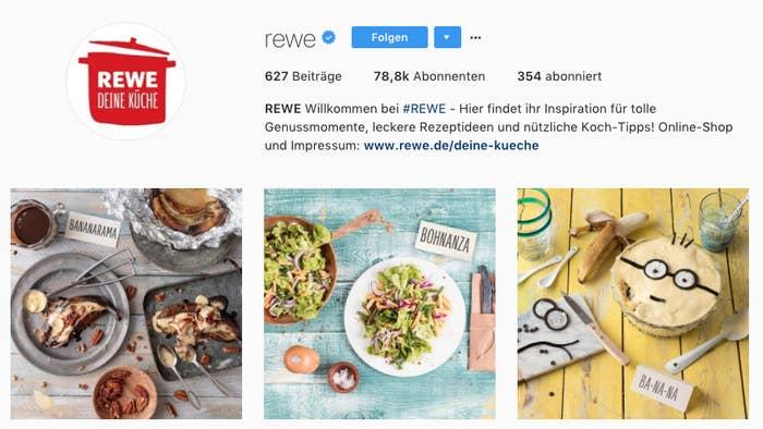Rewe postet auf Instagram nonstop Wortwitze und einer ist ...