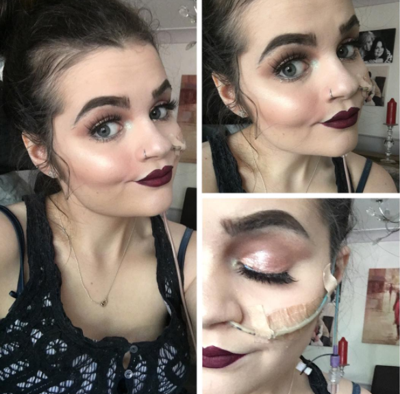 """I began my Instagram account because I always received praise for my makeup application and I felt that it was something that I could be quite competent at,"" she said. ""I love Instagram, and I felt that it would improve my confidence and show others that even though I have a feeding tube, I can still do makeup and feel beautiful."""