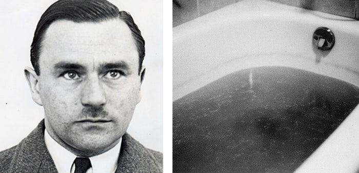 John George Haigh fue un asesino del Reino Unido durante la década de 1940 que pensó que podría evitar ser atrapado si los cuerpos desaparecían, por lo que disolvió a sus víctimas en bañeras llenas de ácido. Para su desgracia, todavía quedaba evidencia suficiente para demostrar que mató a seis personas, por lo que fue ejecutado.—charlottef9