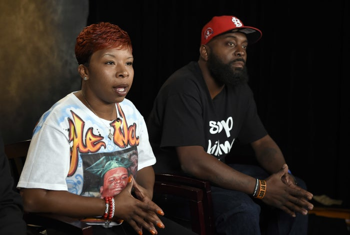 The parents of Michael Brown, Lesley McSpadden and Michael Brown Sr.