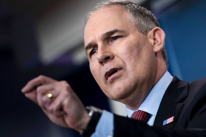 Environmental Protection Agency Administrator Scott Pruitt .