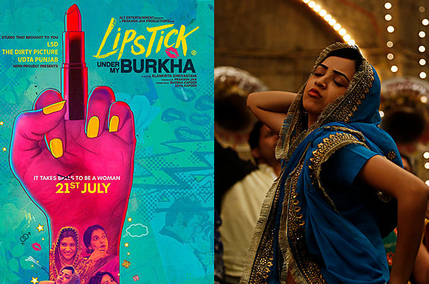 Image result for lipstick under my burkha new poster