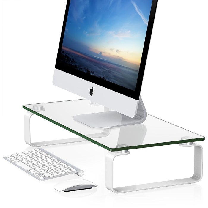 Get the glass monitor riser here.