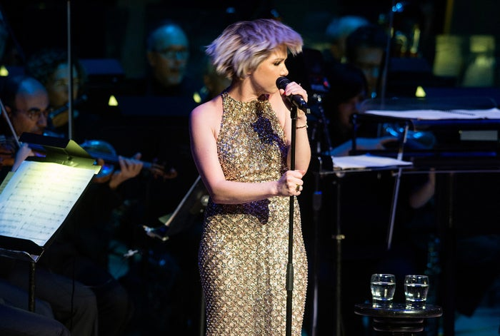 Carly Rae Jepsen performing with the Toronto Symphony Orchestra.