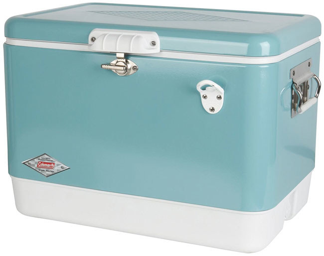 a pretty steelbelted cooler with a builtin bottle opener u2014 and tons of throwback style