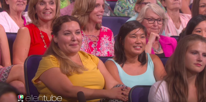 And if you're gonna go to an Ellen taping, for crying out loud, you should probably assume there are hidden cameras everywhere. HAVE YOU EVEN SEEN THE SHOW, LADY???
