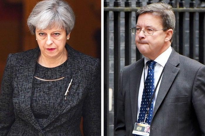 Theresa May and John Godfrey