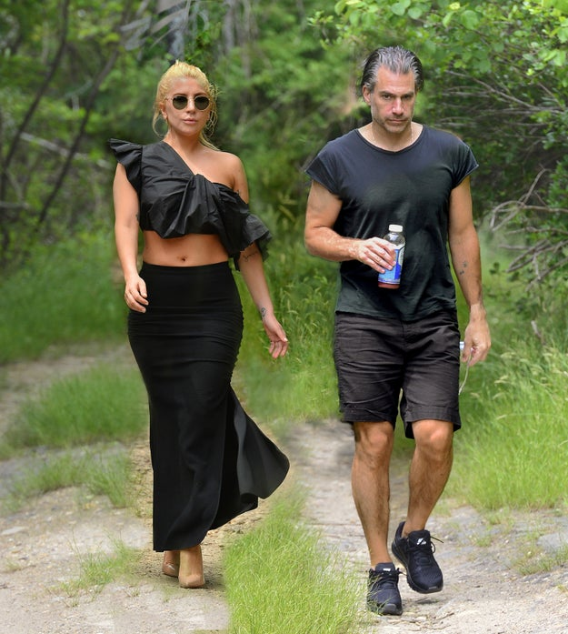 This, my new friends (xoxo), is Lady Gaga and her boyfriend, Christian Carino. They are hiking.