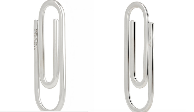 Do you have money to blow AND need a way to neatly clip all that excess cash together? Well, Barney's has you covered. The store is selling a Prada-brand paperclip for the low, low price of $185.