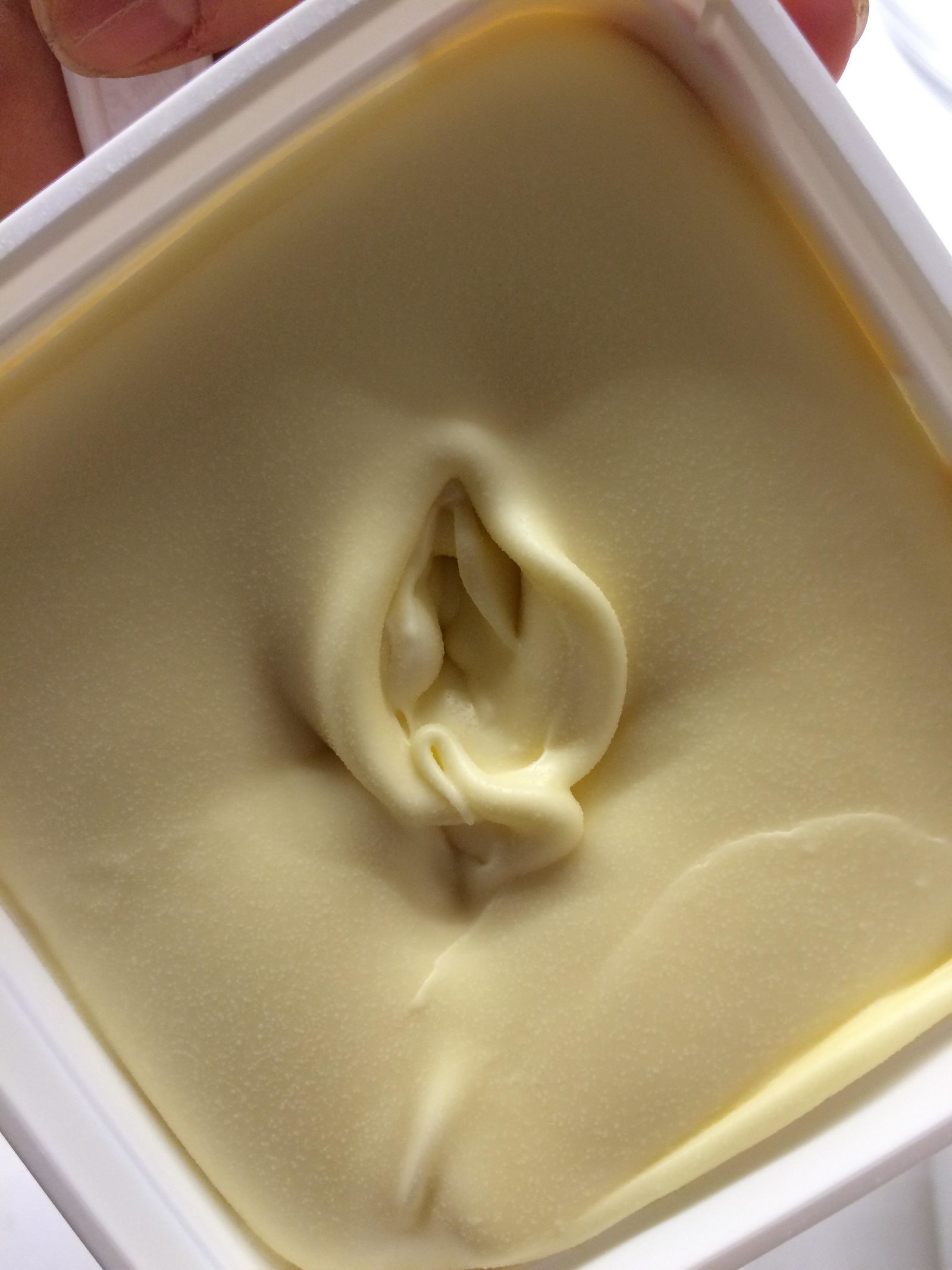 Butter with a small hole in the middle