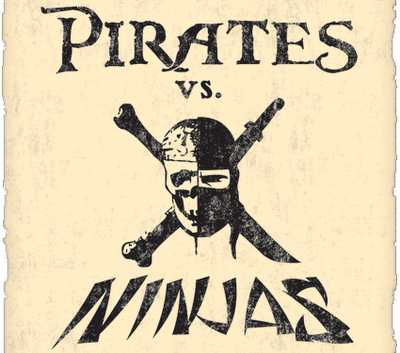 Debating whether pirates or ninjas would win in a battle.
