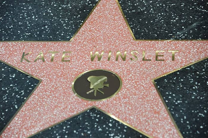 (Although Kirsten's star is gonna have her own name on it, not Kate Winslet's.)