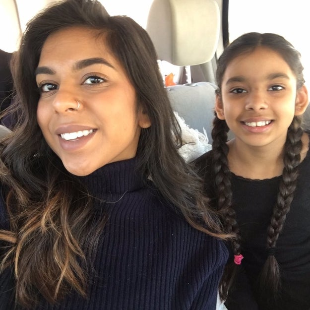 This is Rimsha, a college student from San Antonio, Texas, and her 11-year-old sister, Romesa. Both sisters have always wanted a cat to call their own, Rimsha told BuzzFeed News.