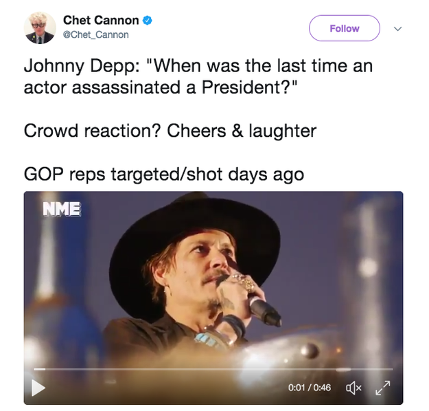 Several pointed out that his remarks were poorly-timed as they came in the wake of a gunman opening fire at Republican members of Congress during a baseball practice game in Virginia.
