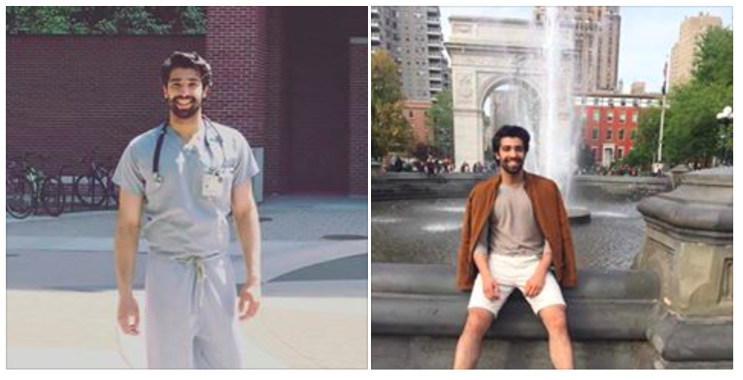 Rehan then decided — and this is where our story begins, dear reader — to include two pictures of himself at the bottom of his post: