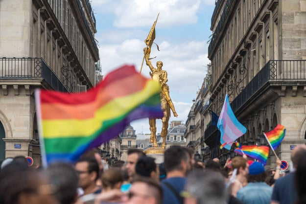 Thousands of people have taken to the streets in parades worldwide to celebrate LGBT pride.