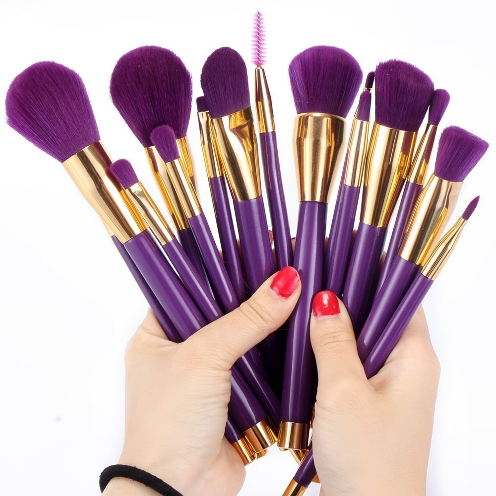 This neverland brush set that looks like it came straight from a dream, and has rubber paint handles to make it easier to contour your face to the gods.