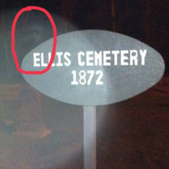 """My friends took these at a cemetery in Massachusetts. They all agreed to snap pics and not look at any of them until after they left the cemetery. This was the result."" —jtc48"