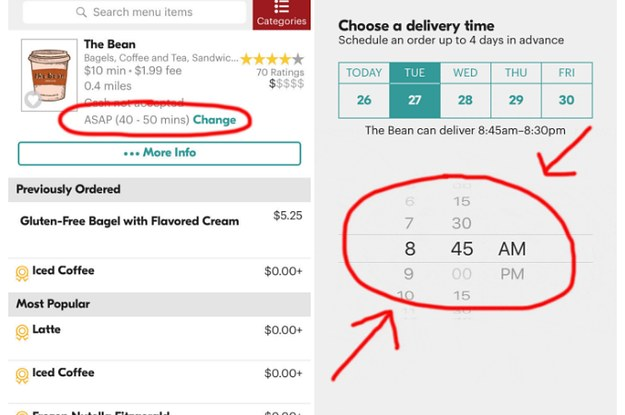I Just Realized You Can Pre-Order Seamless To Be Delivered In The Morning Like Room Service