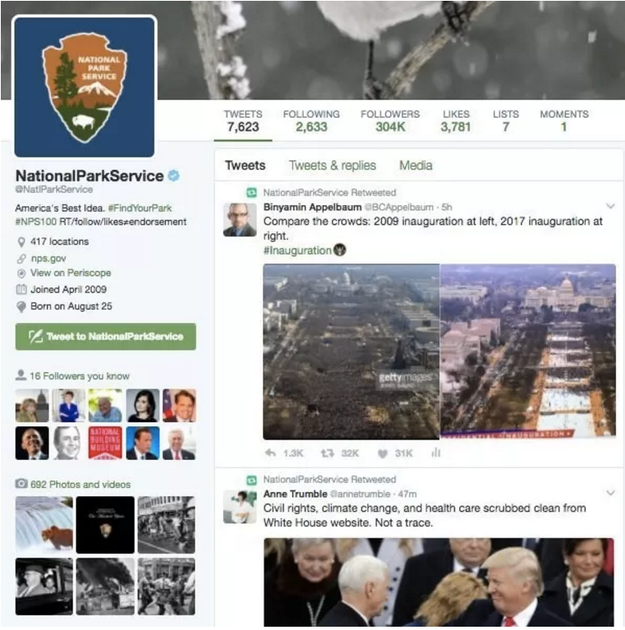 But as a retweet by the National Park Service noted on Jan. 20, there were far fewer people attending Trump's inauguration in 2017 than President Obama's in 2009.