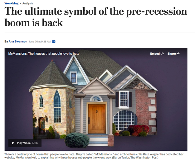 Zillow sent the letter the same day the Washington Post published a story on the return of McMansions in which Wagner offered commentary as an expert on the topic.