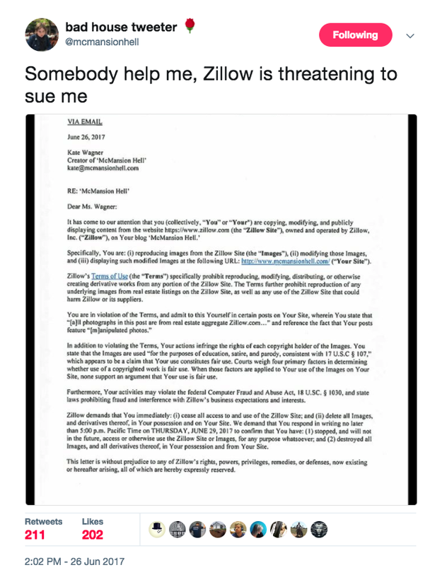 But on Monday, Zillow, the biggest and most influential real estate website on the internet, sent Wagner a cease and desist order, leaving the future of her site as imperiled as the value of a 5,000 square foot home outside Las Vegas in 2008.