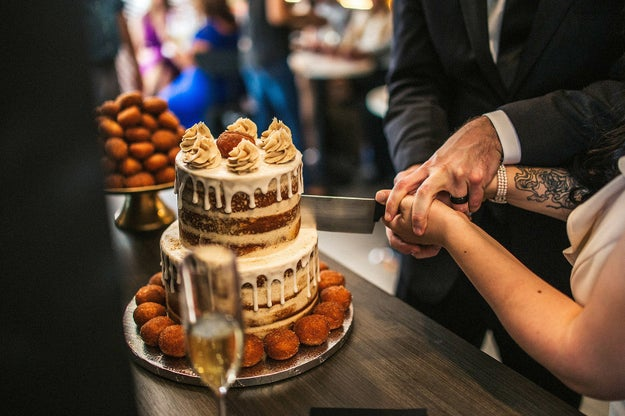 Oh, and did I mention they had a Cinnabon Delights wedding cake?