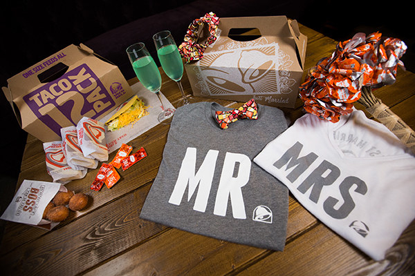 Are you starting to get jealous? Hungry? Well lucky for you, starting Aug. 7 you'll be able to have your own Taco Bell wedding, too!