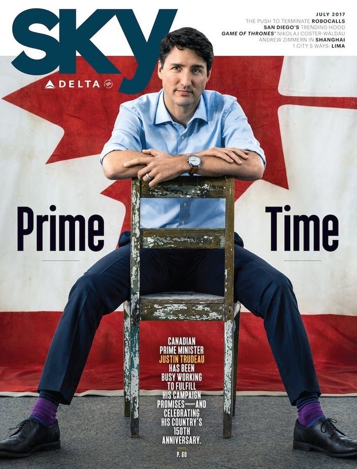Trudeau graced the cover in honour of Canada's 150th birthday. And with that pose, he looks like many things other than the prime minister.