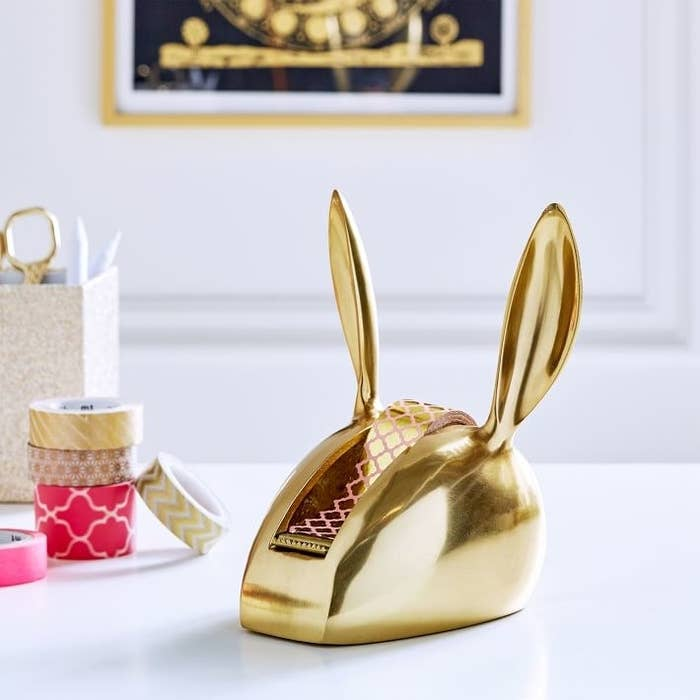 You might not be able to tell just from the ears, but this bunny's got a heart of ~gold~.Get it from PB Teen for $39.