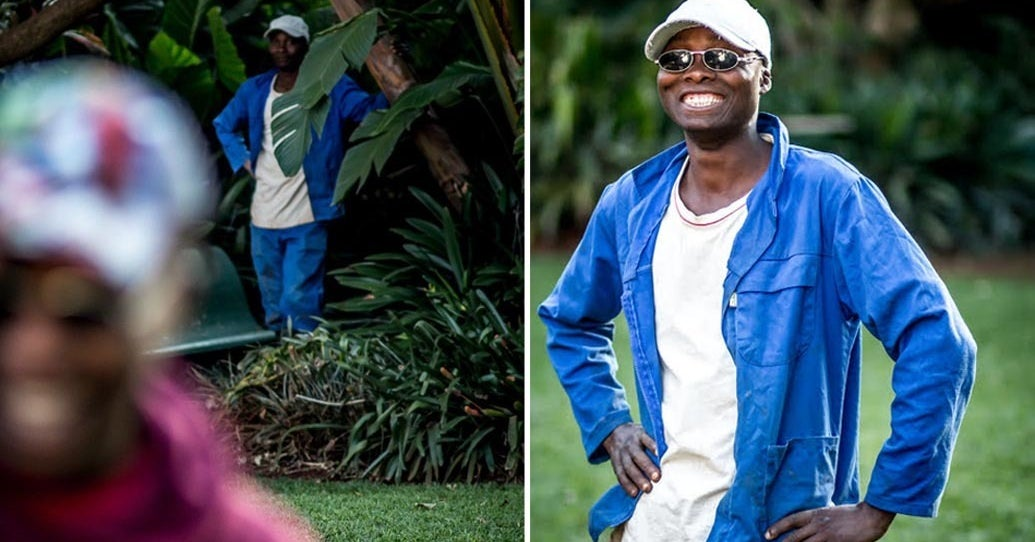 This Guy Held A Photo Shoot For His Gardener After He Noticed Him Watching In The Background