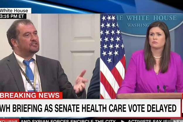 A Reporter Had A Heated Clash With A White House Press Secretary Over Fake News