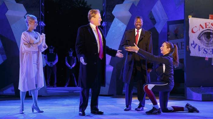 The Shakespeare in the Park Julius Caesar.