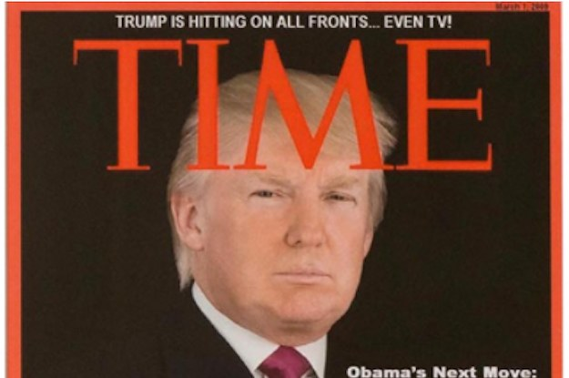 This Time Magazine Cover Is Hanging Inside Trump's Golf Clubs. It's Fake.