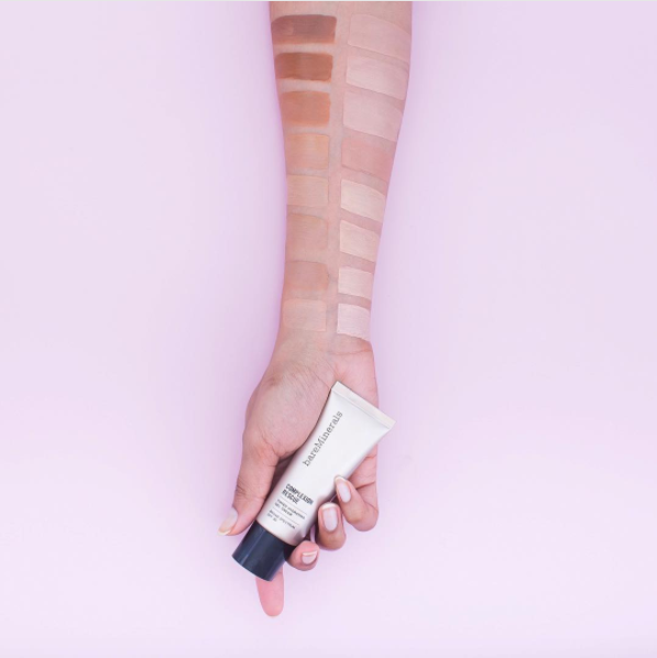 Bare Minerals Complexion Rescue Tinted Gel Cream for a solid protective layer.