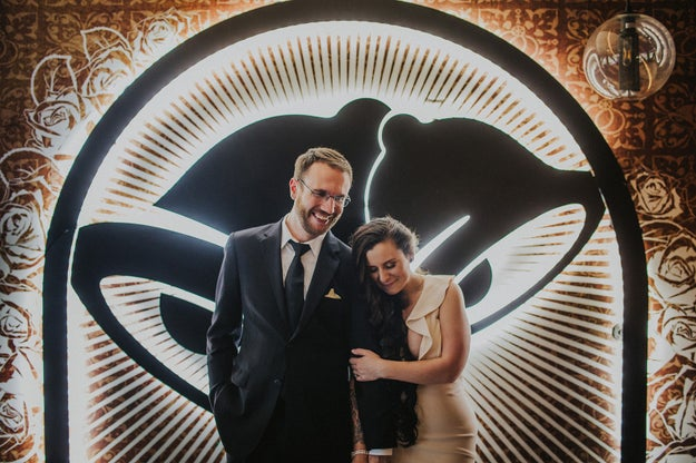 "Hello, world. Meet Dan Ryckert and Bianca Mondo, the winners of Taco Bell's ""Love and Tacos"" contest and the first couple to be married at Taco Bell's Las Vegas Cantina on The Strip."