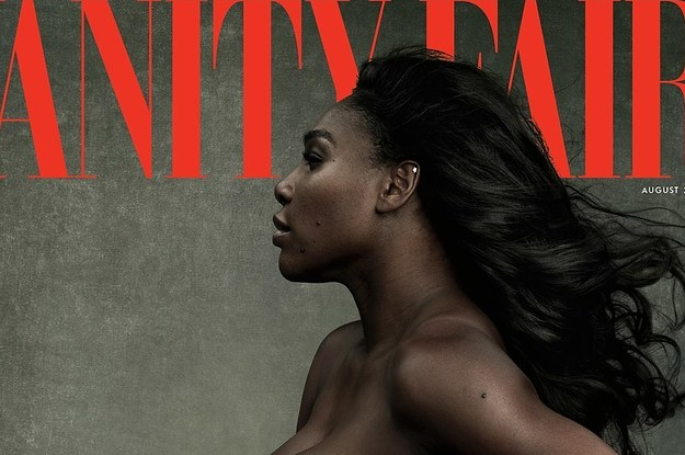 """Serena Williams Posed Topless And Pregnant On The Cover Of """"Vanity Fair"""" And It's Beautiful"""