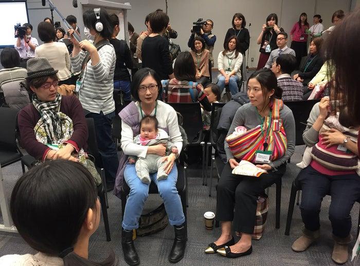 グループは3月7日、衆議院議員会館で集会を開き、「保育園に入りたい」と訴えた。