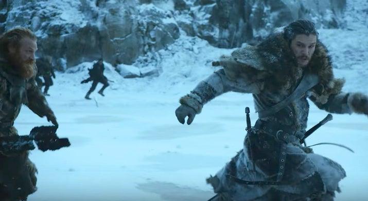 "Full disclosure: I actually predicted Tormund would die in Season 6, so I clearly know what I'm talking about.Unfortunately for Tormund fans, this time things look a lot more bleak for our red-headed wildling friend. As you can see in this shot (and others like it) from the trailer, Tormund finds himself back north of the Wall, fighting wights and White Walkers with Jon Snow, Beric Dondarrion, the Hound, and a bunch of others who we're yet to identify.With just two short seasons to go, the cast needs thinning out, and we know from ""Hardhome"" just how deadly an undead attack can be. He might make it out alive, but wouldn't it be very like Tormund to sacrifice himself to save Jon?Likelihood: 6/10 ??????How: Attacked by wights while saving Jon Snow from an almost certain death. But don't worry, his final thoughts will be of Brienne, so he'll die with a smile on his face."